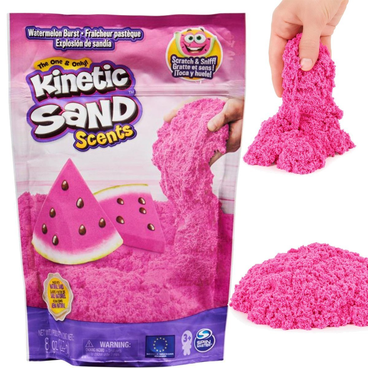SPIN MASTER Kinetic Sand Smakowite Zapachy 227g - Arbuz